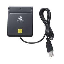 Lector de DNI electrónico CAC inteligente lector de tarjetas USB color negro