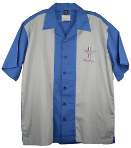 David Carey Iconic Ford Mustang Pony Club Crew Bowling Shirt Button Down