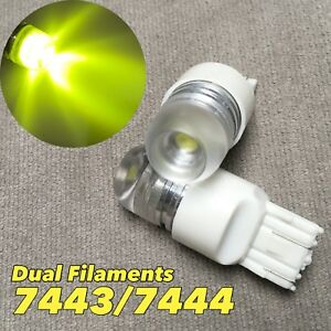 Front Signal Parking Light YELLOW 5W SMD LED bulb T20 7443 7444 For Nissan Infin