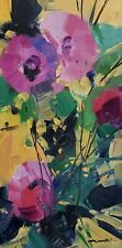 JOSE TRUJILLO Oil Painting FLOWERS FLORAL COLORSIT BRIGHT MODERN ART SIGNED
