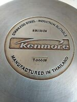 """Kenmore 8"""" Stainless Steel Saute Pan Insulated Rubber Handle Induction Suitable"""
