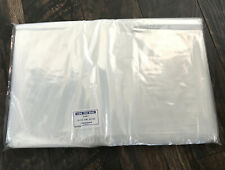 100 Clear 18 x 24 Poly Bags Open Top Lay Flat Packing Storage Uline 2 Mil Thick