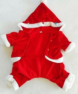 Santa Suit Dog Coat