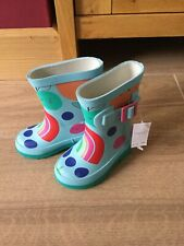 NEXT Girls Rainbow Wellies Infant Size uk 5 NEW WITH TAGS