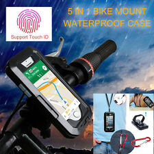 Waterproof Bike Bicycle Motorcycle Handlebar Mount Holder Case Cover For iPhone