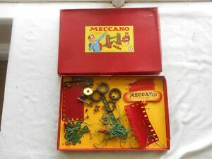 MECCANO (#1) ORIGINAL EMPTY WELL USED BOX SOLD AS SEEN
