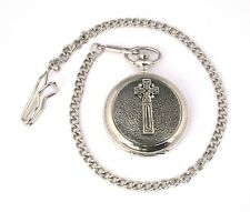 Celtic Cross Pocket Quartz Watch Gift Boxed FREE ENGRAVING 67