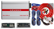 Crunch SA1100.4I 1100 Watts 4 Ch. Powerful Car Audio Amplifier + Amp Wire Kit