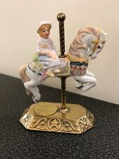 Willitts Design Carousel Horse Brass And Porcelain Group Ii