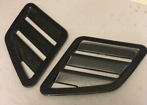 Ford Focus mk3 RS ST style bonnet vents universal VXR - Carbon fibre effect ABS
