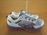 WOMENS SAUCONY VERSAFOAM EXCURSION TR13 GRAY BURGUNDY RUNNING SHOES SIZE 9M A682