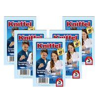 Schmidt Spiele Kniffelblock 5er Set Zusatzblock Familienspiel Spiel 5x600 Spiele