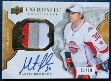 2016-17 The Cup Exquisite Martin Brodeur Signatures Auto Patch All Star /10 3CLR
