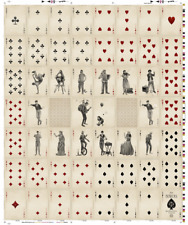 Buskers Uncut Sheet (Mana Playing Cards) Printed by USPCC