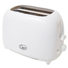 2 Slice Compact Toaster Variable Browing Cool Touch Plastic Body White 750W