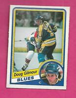 1984-85 OPC # 185 BLUES DOUG GILMOUR  ROOKIE NRMT+ CARD (INV# D0360)