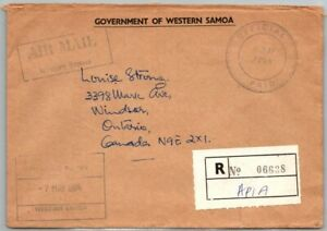 GP GOLDPATH: SAMOA COVER 1984 REGISTERED LETTER AIR MAIL _CV556_P17