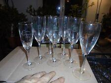 7 Verres Flutes à Champagne Dégustation Perriet Jouet -Veuve Cliquot -Chassenay