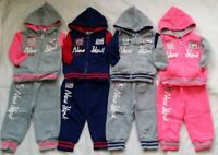 BABY BOYS/GIRLS DESIGNER TRACKSUIT ZIPPED TOP BOTTOMS JOGGING SUITS 6 MTHS 4 YRS