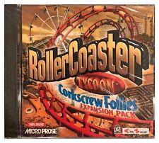 Roller Coaster Tycoon Corkscrew Follies Pc Brand New Sealed Free US Ship Nice