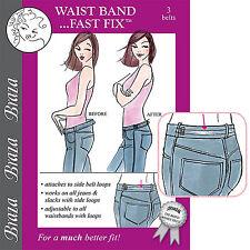 Braza Waist Bandit Fast Fix S5031 Waist Band Reducer Pants Hip Hugger Back Belt