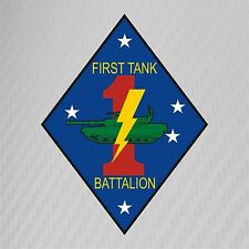USMC 1st Tank Battalion Insignia Military Graphics Decal Sticker Car