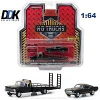 GREENLIGHT 33130A 1968 FORD F-350 RAMP TRUCK W/ 1966 SHELBY MUSTANG DIECAST 1:64