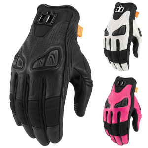 Icon Automag 2 Leather Womens Motorcycle Gloves