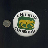 vintage Chicago Cougars WHA World Hockey Association button pinback badge