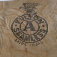 Vintage Fulton EAGLE Seamless Extra Heavy Feed Seed Bag Grain Sack