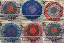 Mandala Indian Floor Cushion Cover Round Pillow Case Home Decor Bohemian Cover