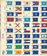 US STATE FLAGS STAMPS - Bicentennial 1776-1976 - ONE FULL SHEET 1976 - MINT L@@K
