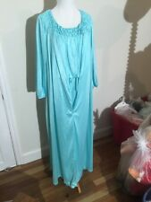 Vintage Teal Gown With Matching Robe Medium