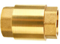 """One 1"""" Inch NPT Pipe Threaded Brass In-Line Spring Check Valve Proplumber"""