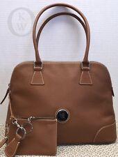 *Dooney & Bourke* Domed*Saddle Tan*Pebble Leather*Satchel & Accessories 16035J