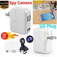 Mini Charger Spy Camera 1080P Full HD Camcorder Hidden DVR Loop Record US PLUG