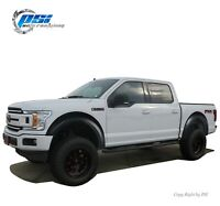 Extension Style Fender Flares Fits Ford F-150 2018-2020 Paintable Finish