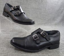 Steve Madden Womens chaaz-p Leather Closed Toe Loafers, Black, Size 3 EUC