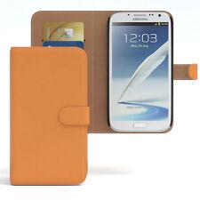 Bolso para Samsung Galaxy Note 2 case cartera, funda protectora, funda, protección naranja