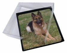 4x Alsatian/ German Shepherd Dog Picture Table Coasters Set in Gift Box, AD-G1C