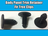 20x Fir Tree Trim Clips For Peugeot Citroen Body Panel Black Plastic Retainer