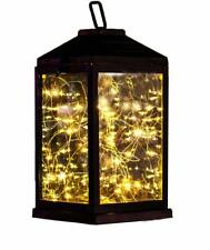 Solar Lantern Lights Metal Sunwind with 30 Warm White Leds Fairy String Lights