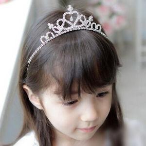 Girl Kids Princess Crystal Rhinestone Tiara Hair Band Bridal Prom Crown Headband