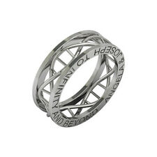 Dna ring To infinity and beyond ring in sterling silver metal