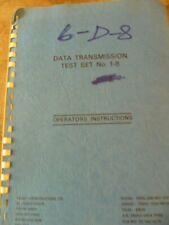 Trend Comms. Data Test Set 1-8   Instruction Manual
