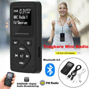 Tragbares Mini DAB+ Radio Digital Pocket Radio FM mit Bluetooth Musik MP3 Player