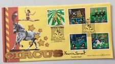 YASMINE SMART, Ring Mistress at Billy Smarts, Signed 2002 Circus FDC Westminster