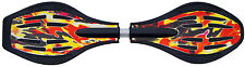 Nik Funsport Waveboard WITH LED Wheels Light Roll Wave Board Flame 85,5 cm