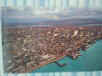 VINTAGE POST CARD SOUTHEAST AERIAL VIEW WATERFRONT SEATTLE WA