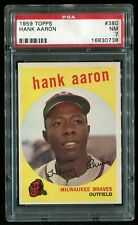 1959 Topps #380 HANK AARON PSA 7 NM! Sharp w/great color! c other high grade